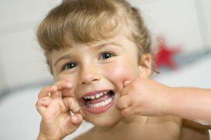 Kid dental floss clean