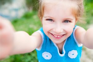 close up child with smile